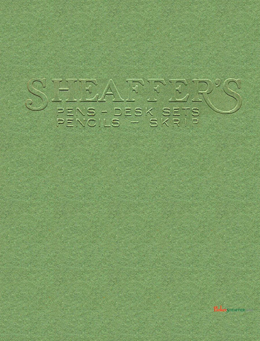1930 Sheaffer'S catalog cover