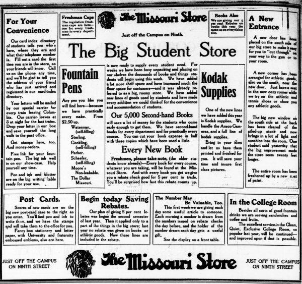 1912 09 17. Antes de constituirse la sociedad. Primer anuncio Sheaffer en el establecimiento donde se vendió la primera Sheaffer´S.