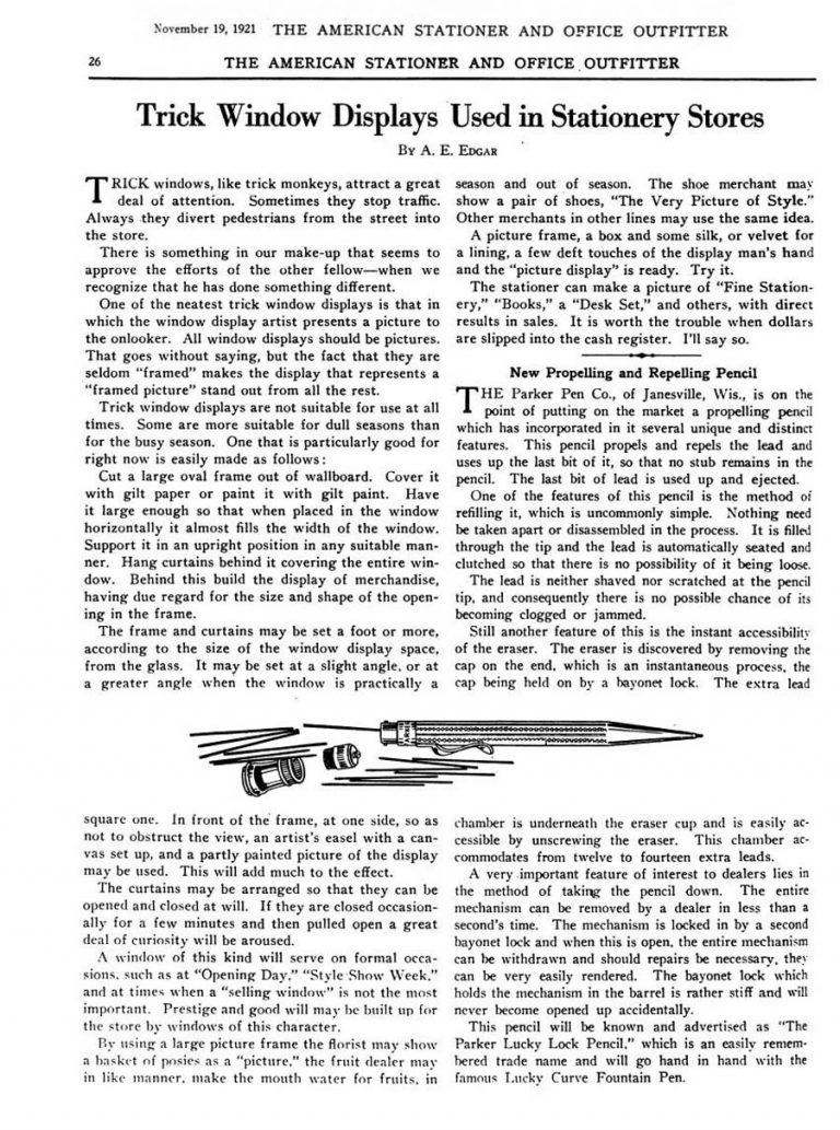 1921 11 19 Repelling pencil