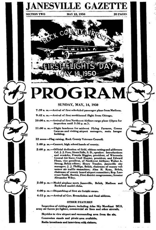 Celebrations program for Rock County´s airport dedication (5).