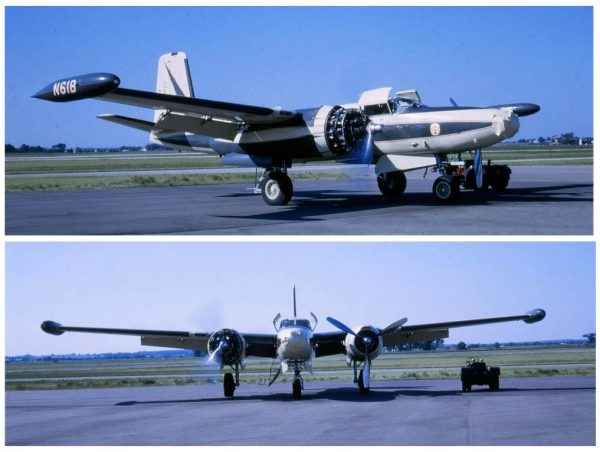 "The Parker ""61B"" Douglas B26 during a routine inspection (2). C. 1966."