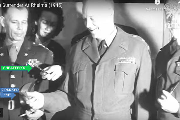 Sheaffer´S_Eisenhower_Rheims_German_surrender