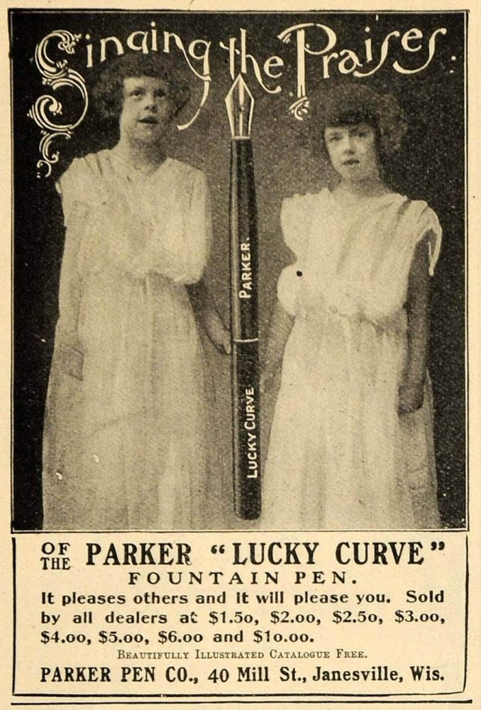 1901 ad parker lucky curve