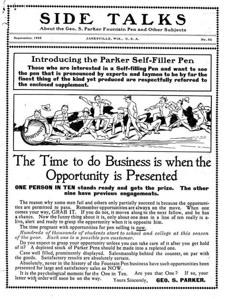 1905 Parker self-filling