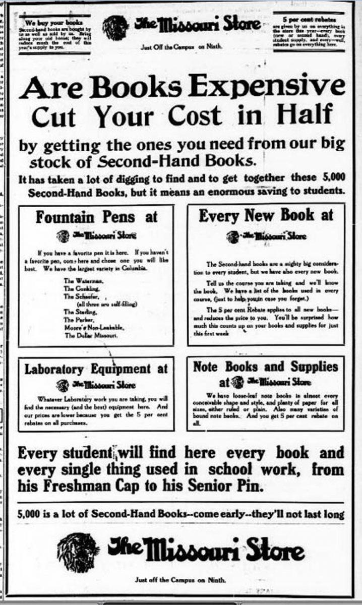 1912 09 18 Schaefer University Missourian., September 18, 1912