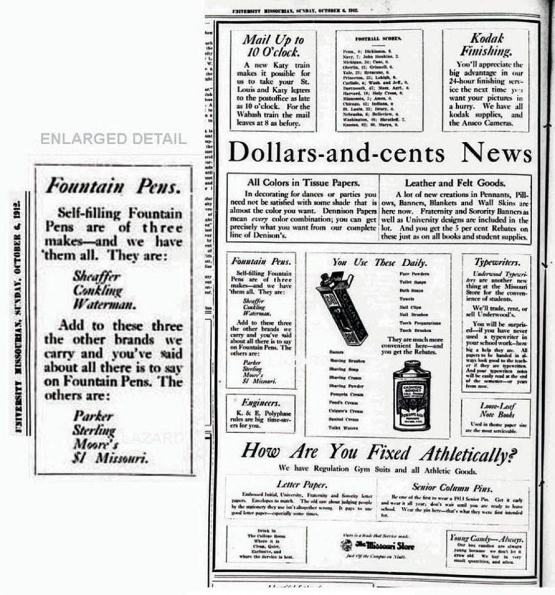 1912 10 06 University Missourian detall Lazard - copia