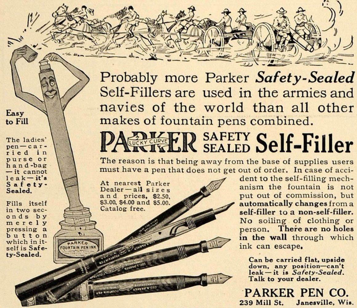 1916 parker ad