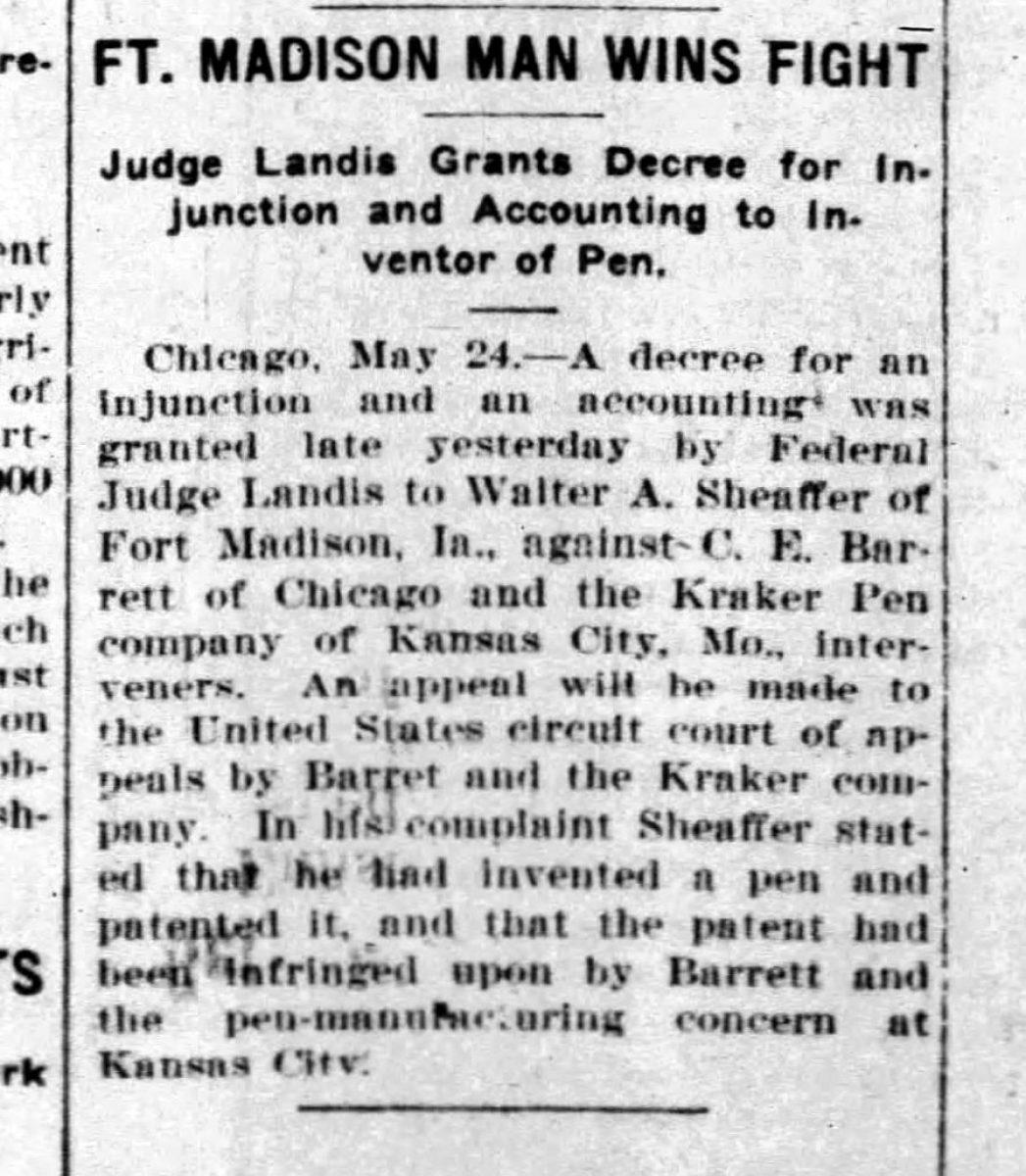 1917 05 23 Fort Madison Man Wins Fight tne news palladium 1917 05 24