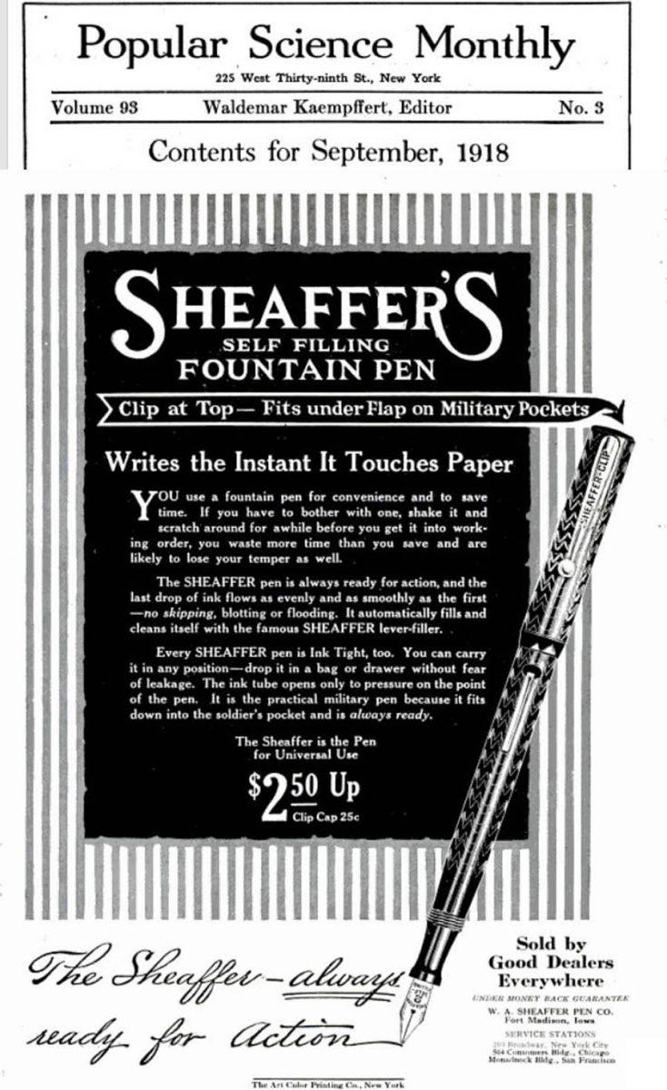 1918 09 CLIP SHEAFFER
