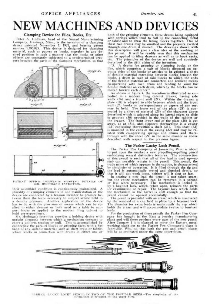 1921 08 01 1º Parker pencil