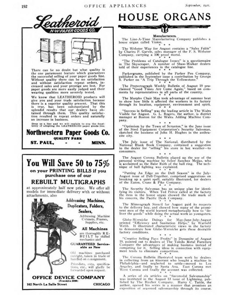 1921 09 Parker yellowstone