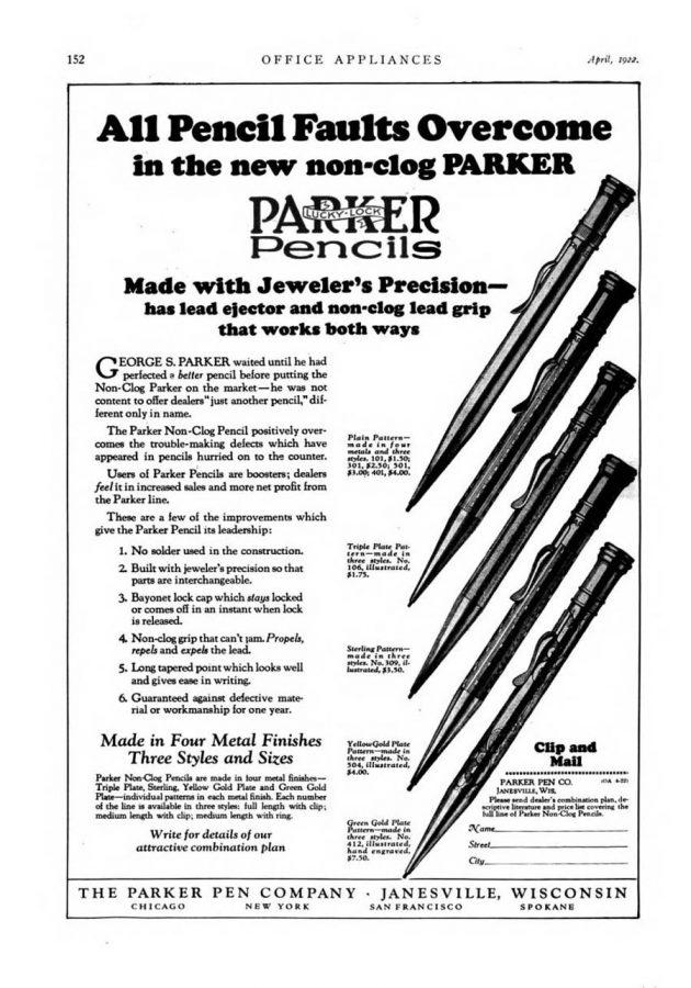 1922 04 01 Mechanical pencils