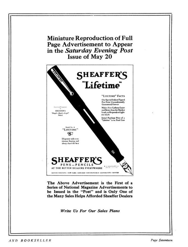 1922 05 20 aviso de SEP ad en Modern stationer
