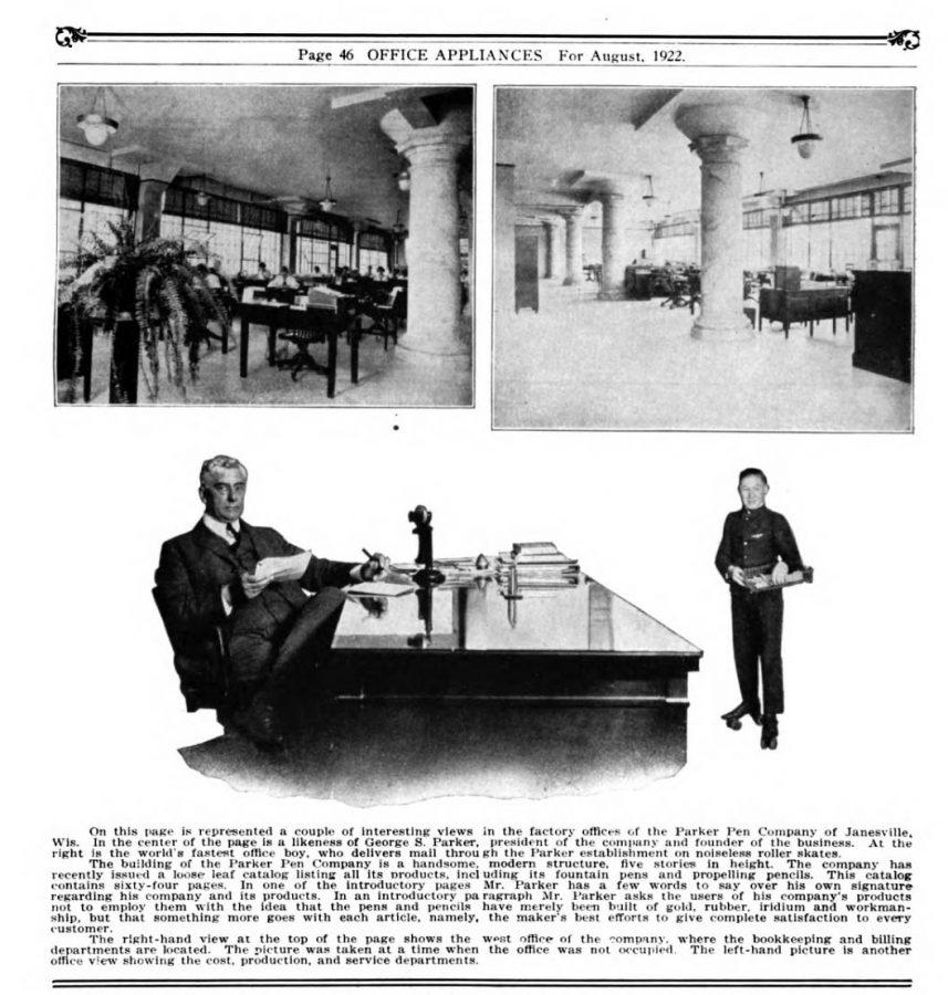 1922 08 00 Parker´s factory Office Appliances