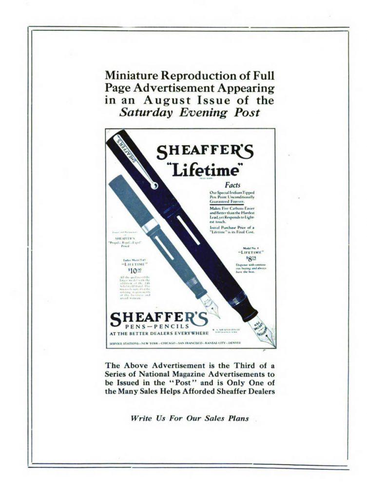 1922 08 01 Aviso SEP ad en Modern Stationer