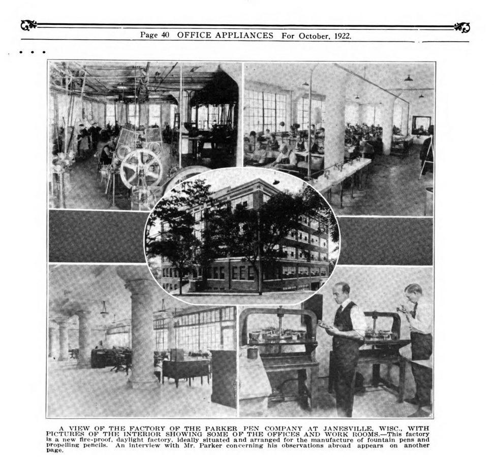 1922 10 00 Parker´s factory