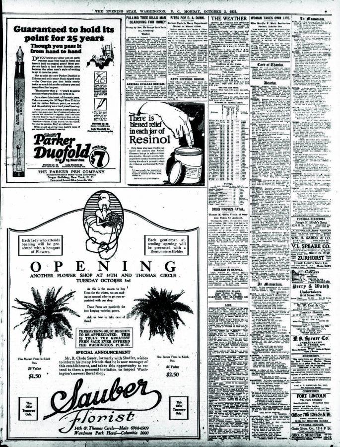1922 10 02 GARANTIA PLUMIN Evening star., October 02, 1922