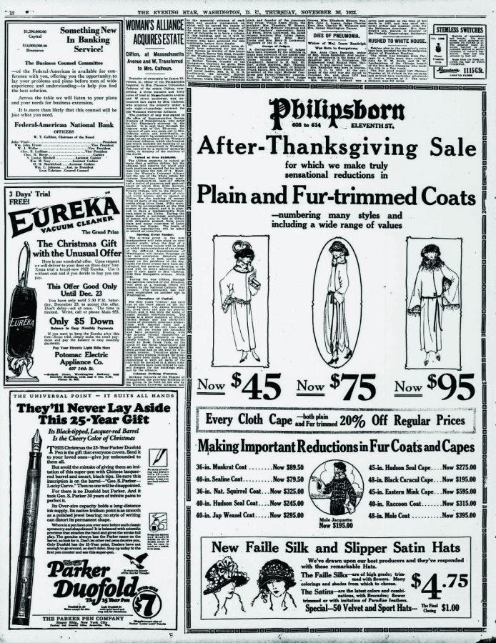 1922 11 30 Par ker Duofold Evening star.