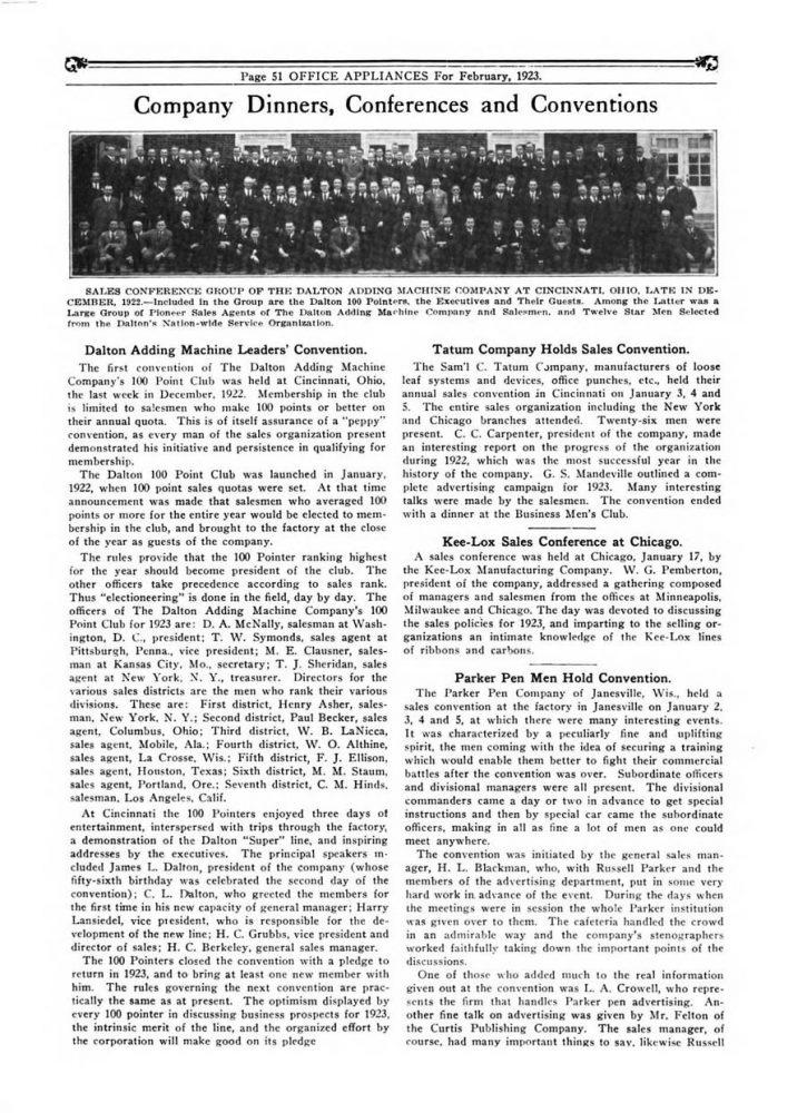 1923 01 01 Parker Convention 1