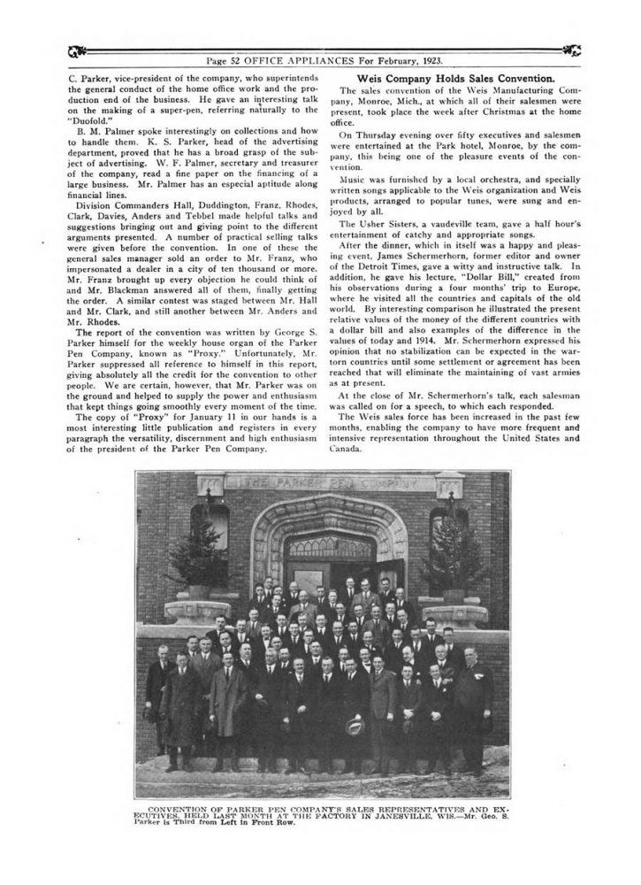 1923 01 01 Parker Convention 2