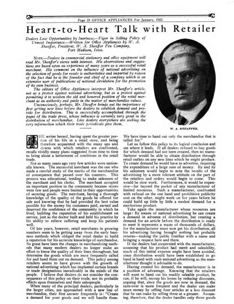 1923 01 01 Sheaffer Interviu 1