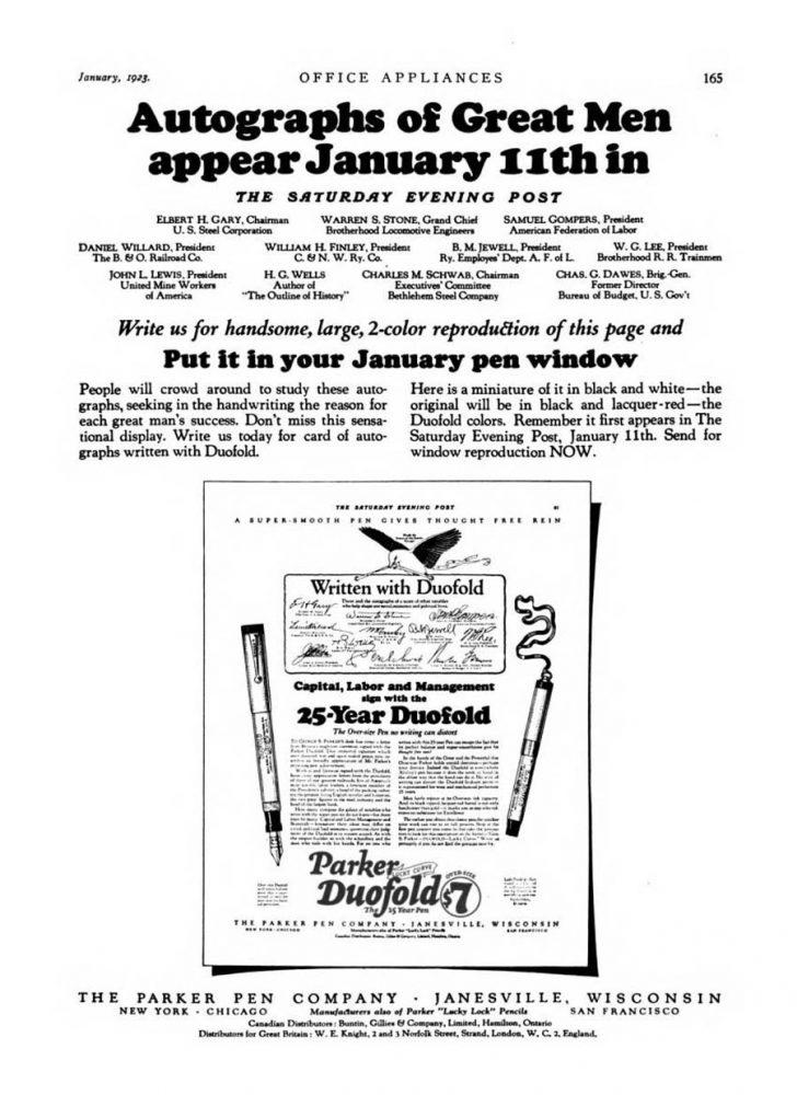 1923 01 01 duofold ad SEP