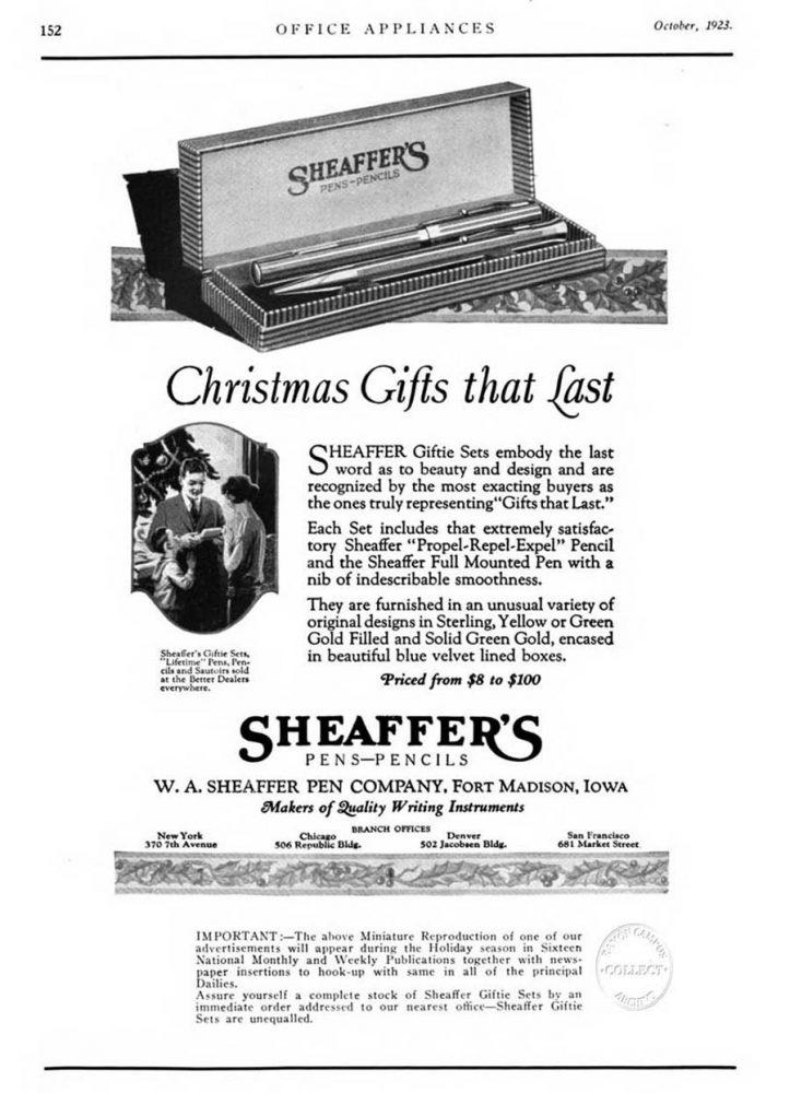 1923 10 00 Giftie Set ad