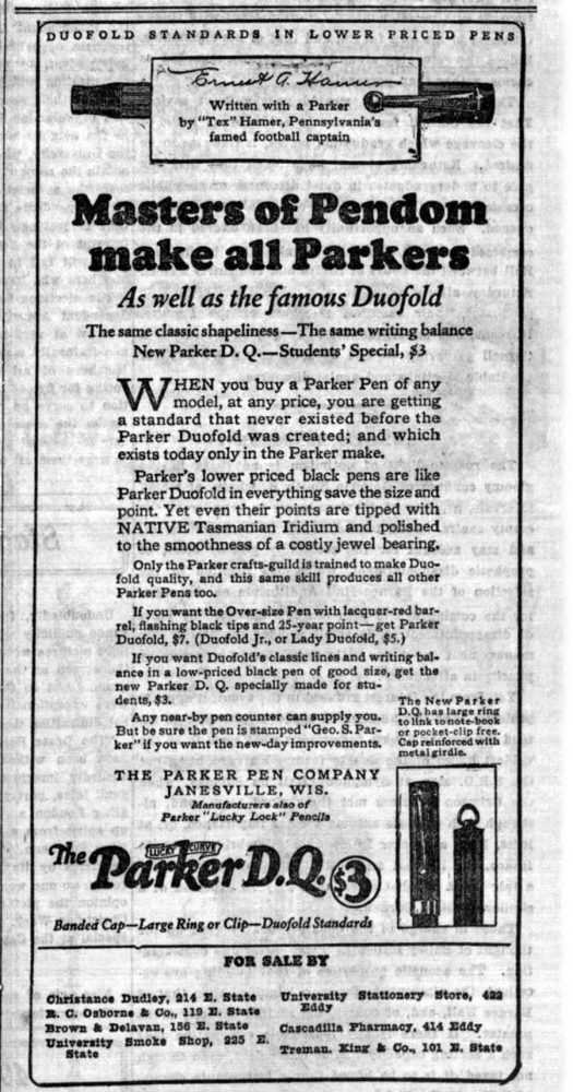 1923 10 11 balanced PendomThe Cornell Daily Sun, V