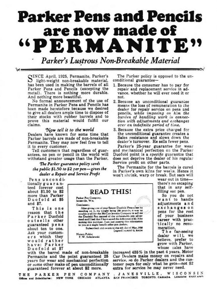 1925 04 01 Star Permanite use