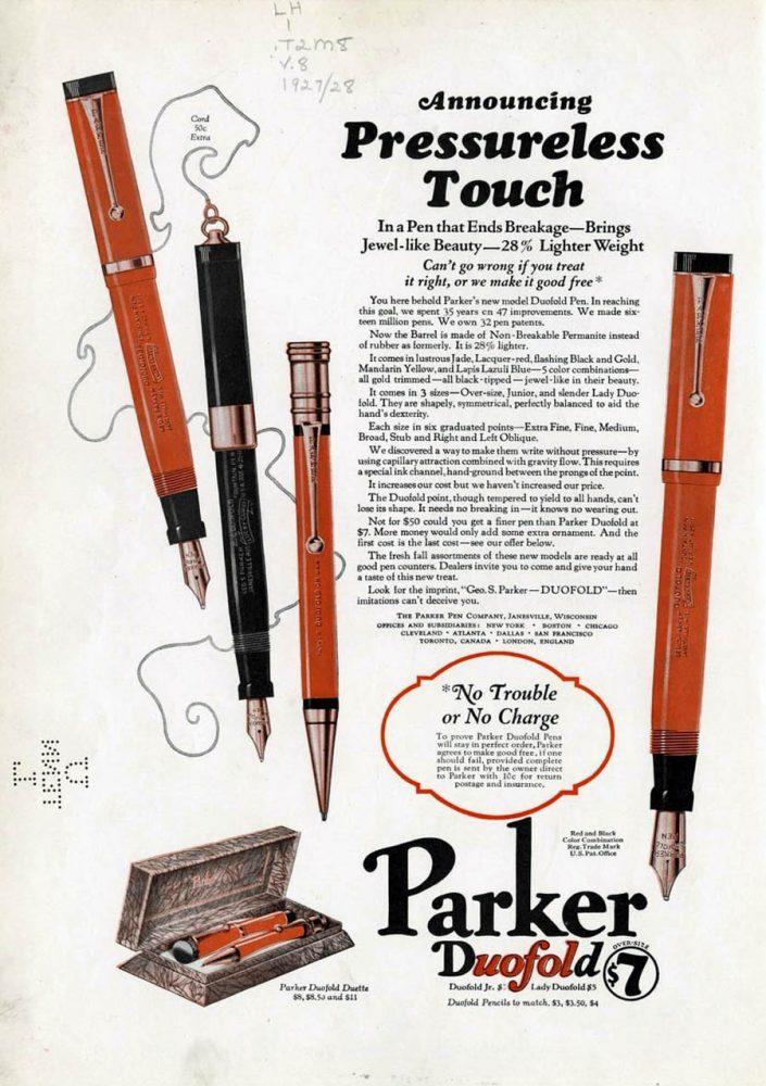 1927 1928 presureless touch