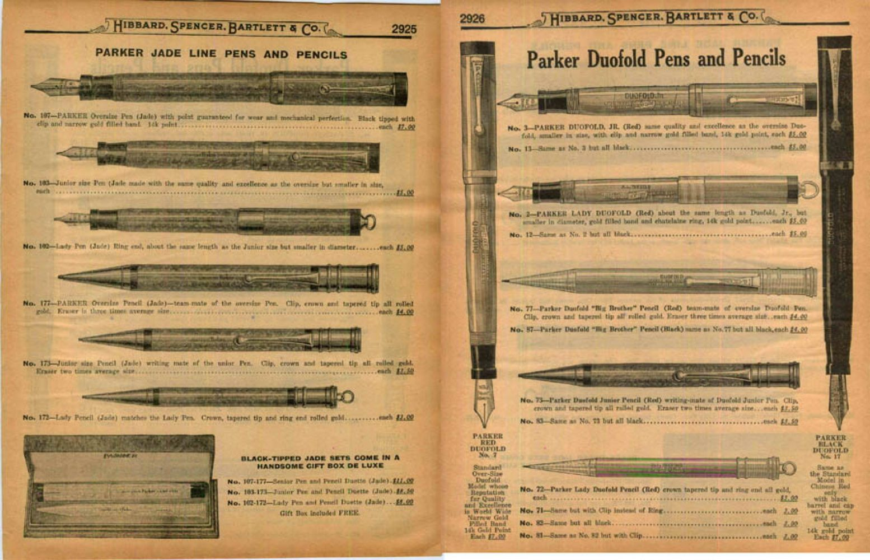 1927 parker ad