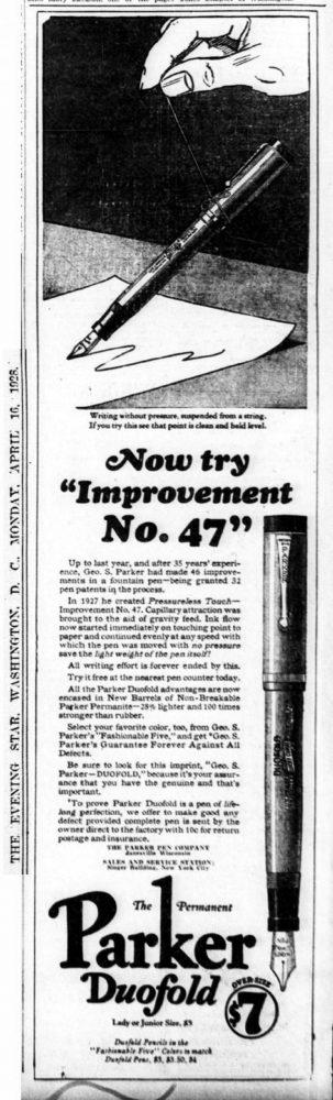 1928 04 26 1º improvement no. 47 FOREVER 1 ANILLA CAP BAND