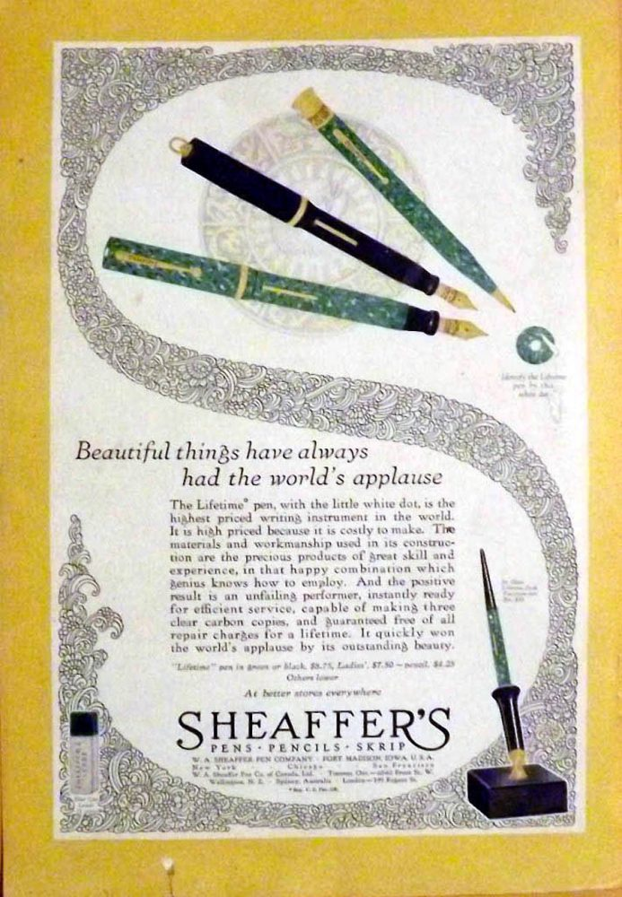 1928 05 sheaffer ad national geographic