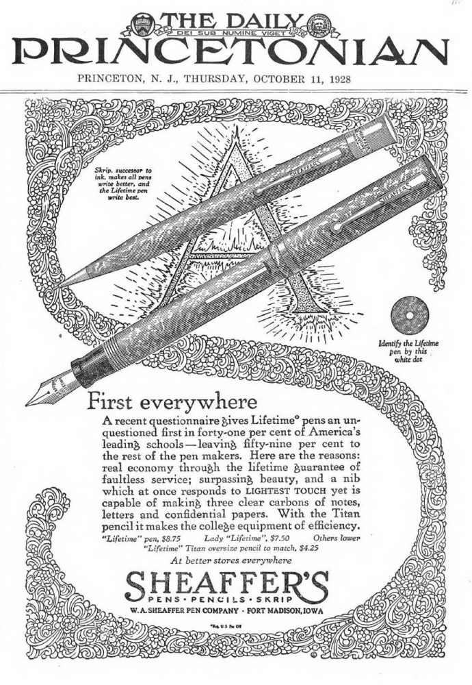 1928 10 11 SHEAFFER