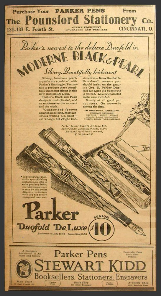 1928 Guaranteed forever Parker ad
