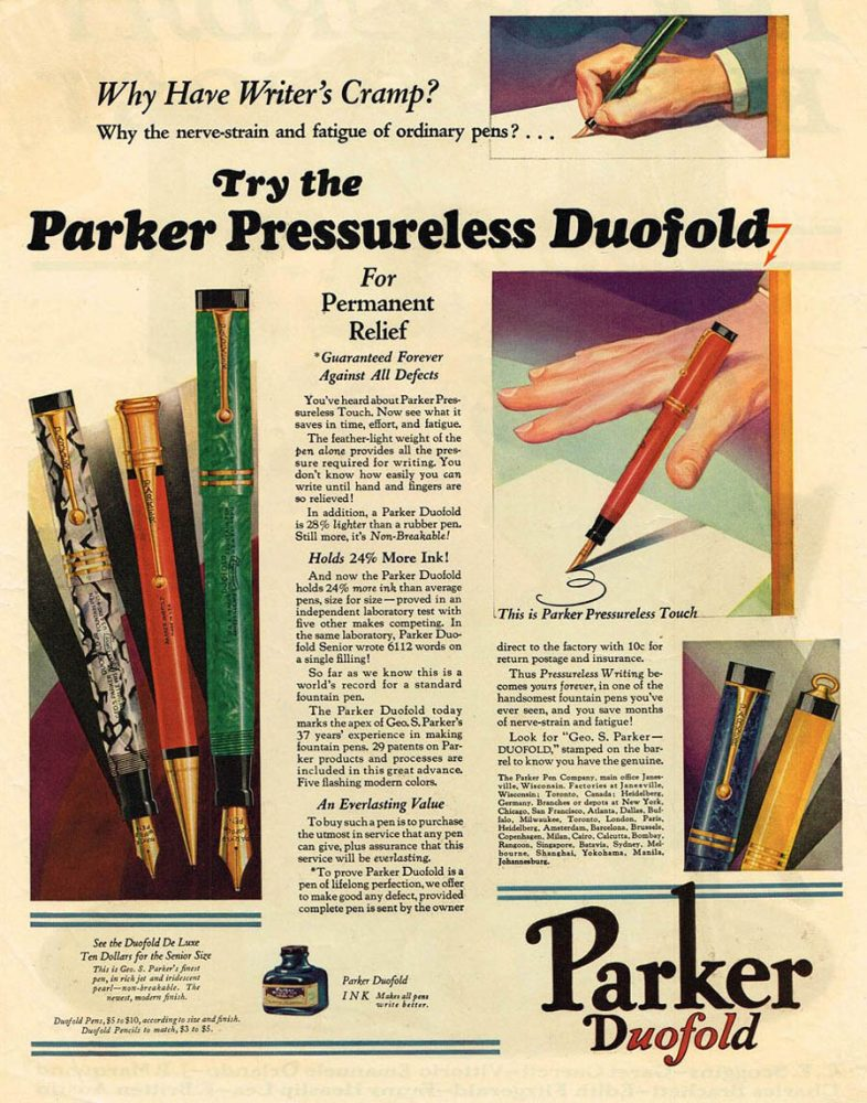 1929 GUARANTED FOREVER parker