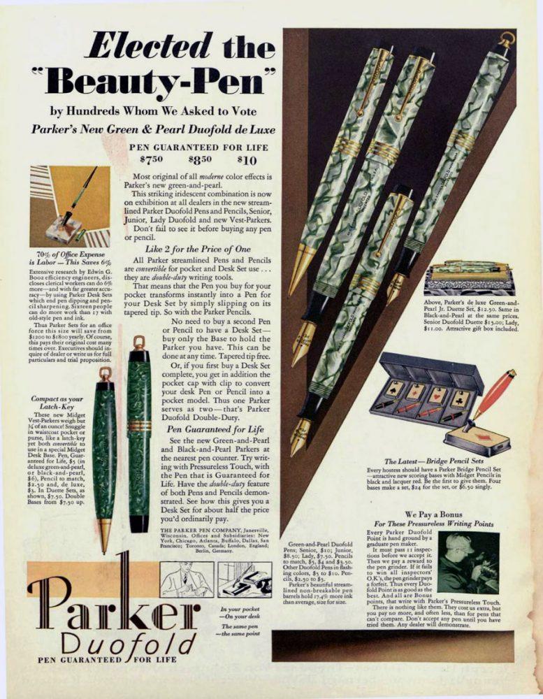 1930 07 26 SEP_0001 1º STREMLINED 1º GREEN & PEARL EMPLEADO GRINDER
