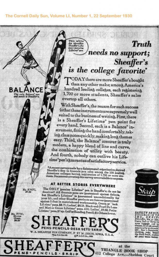 1930 09 22 Cornell Daily Sun