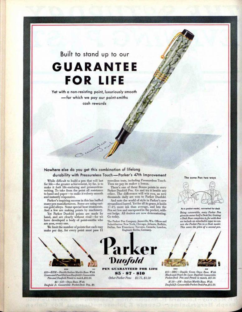 1930 11 15 SEP_0001 GUARANTEED FOR LIFE