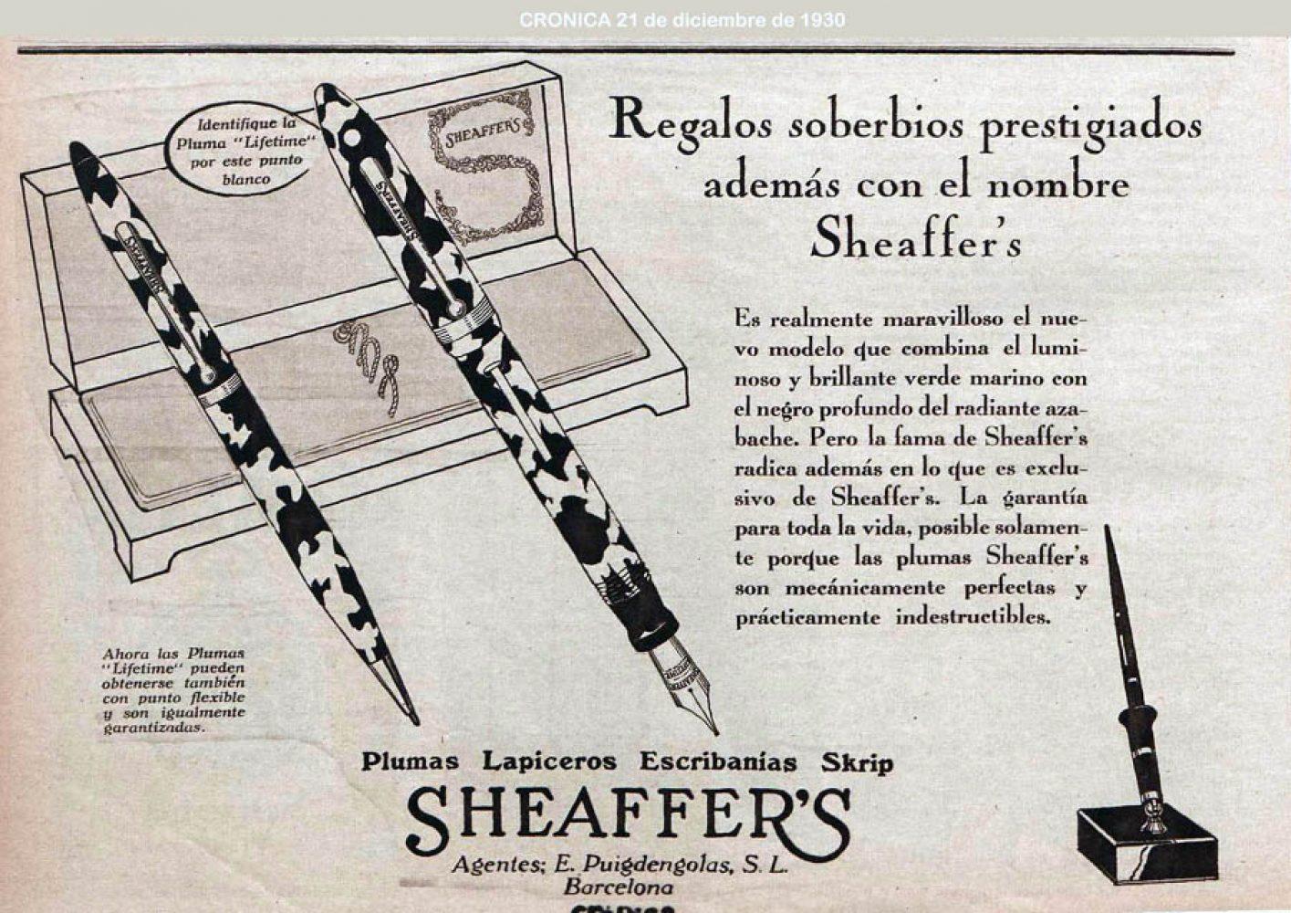 1930 12 21 Ad in Spanish Cronica