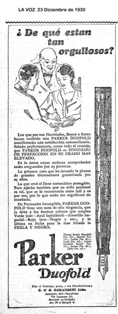1930 12 23 Spanish ad with prices