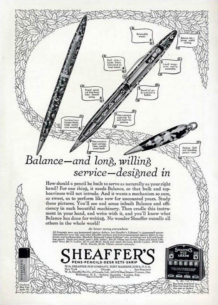 1930 SHEAFFER AD4