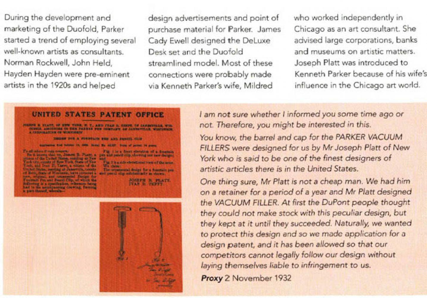 1932 09 17 Diseño vacumatic Joseph Platt
