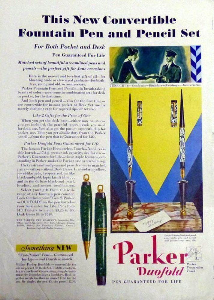 1932 Parker garantia Lifetime