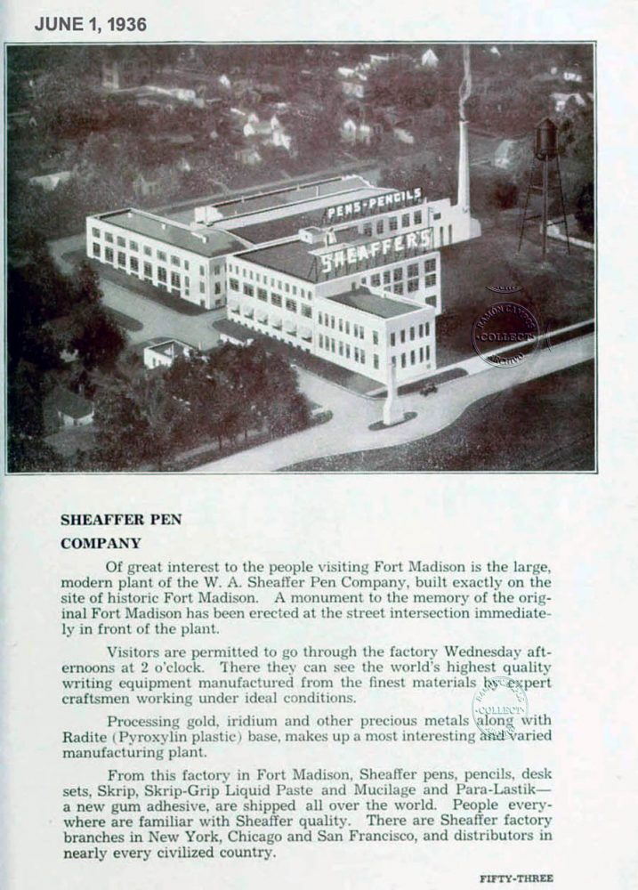 1936 06 01 Sheaffer factory
