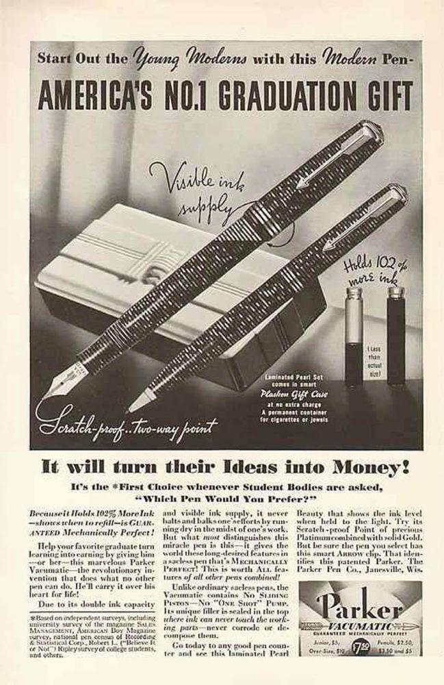1936 America no 1 graduation gift