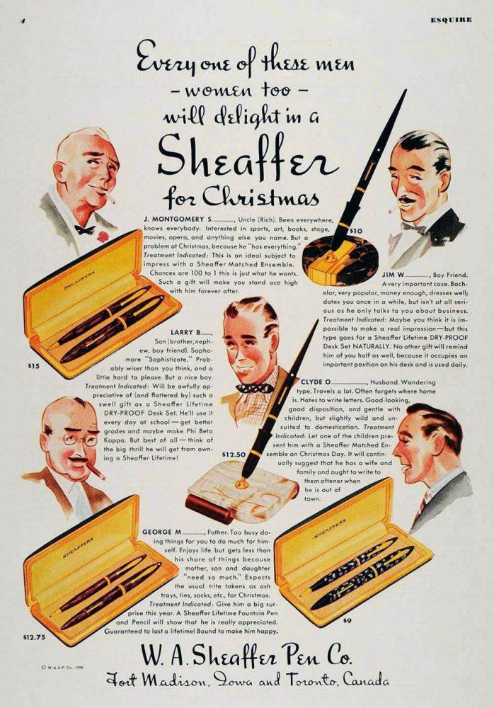 1936 SHEAFFER AD
