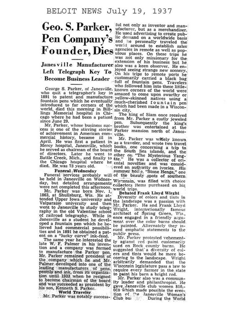 1937 07 19 Parker dies
