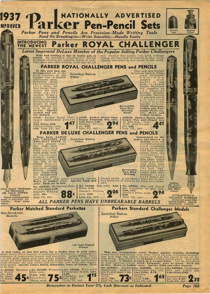 1937 Parker Royal Challenger