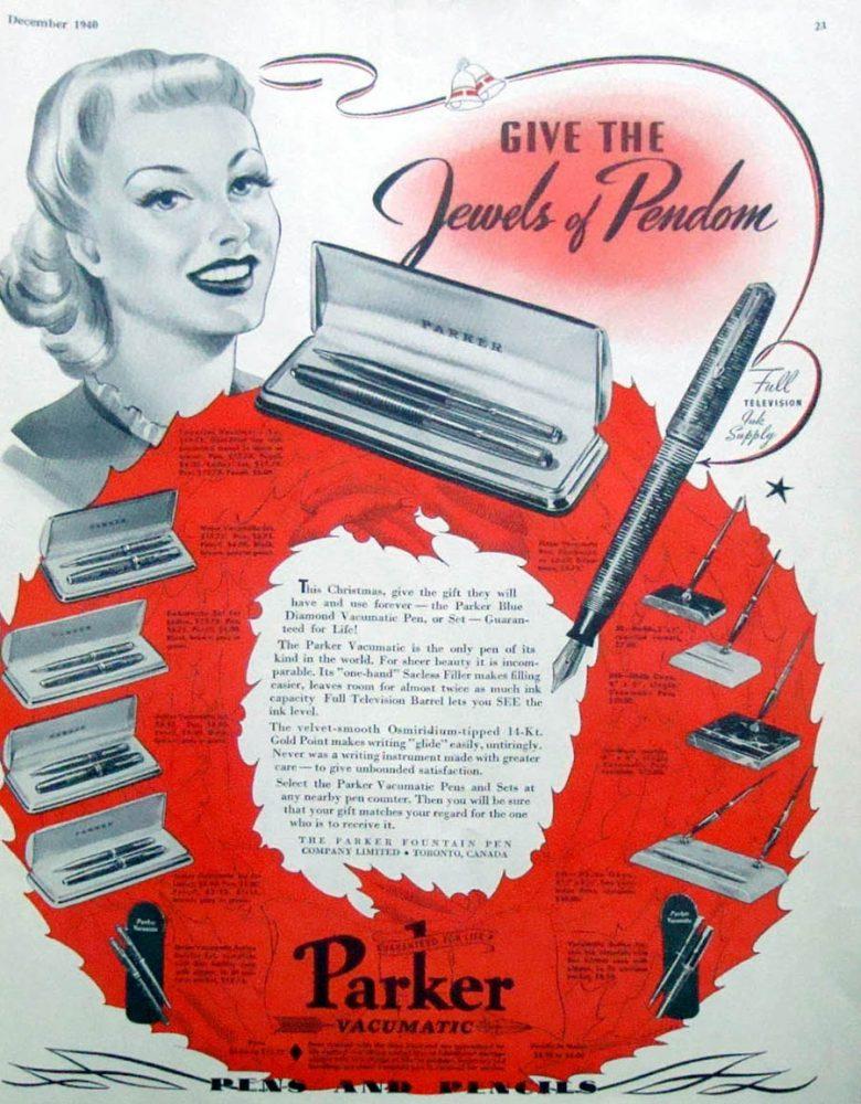 1940 12 parker Jewels of Pendom Canada